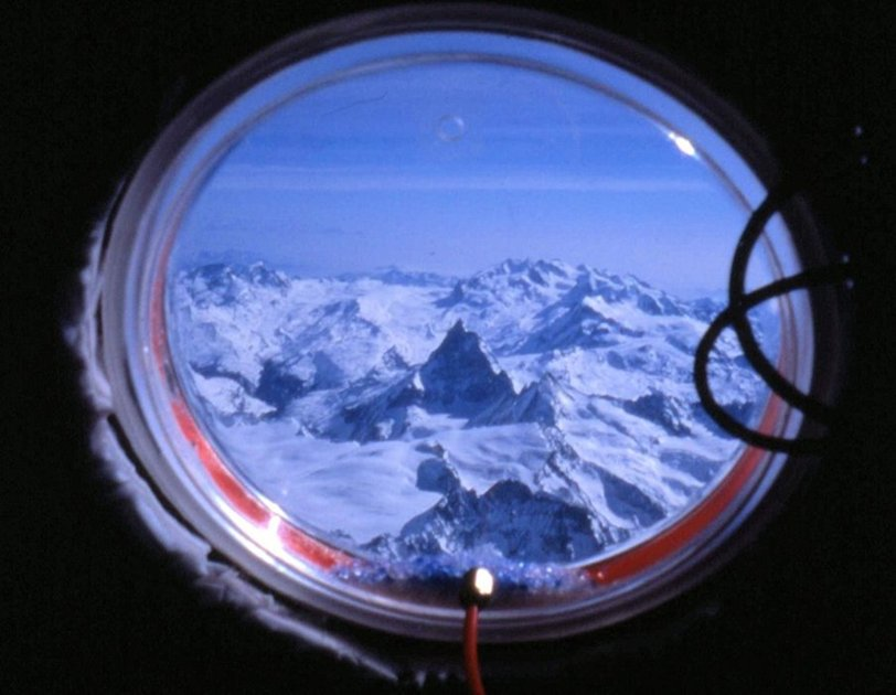 Our first look out of the porthole 20 minutes after take-off