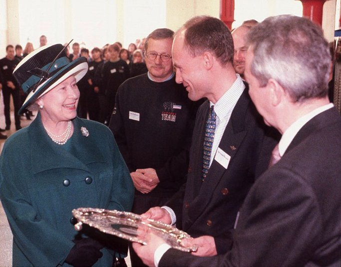 Presentation of the Charles Green Salver by HM The Queen.